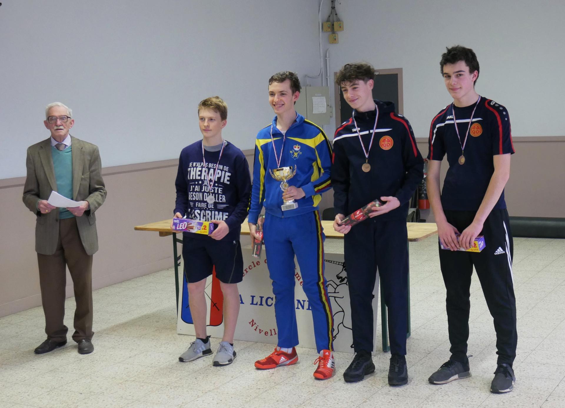 podium cadet Nivelles 2019-03-16